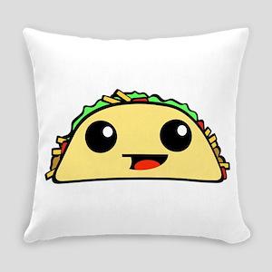 Cute Kawaii Taco Everyday Pillow