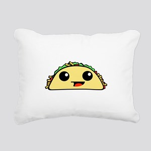 Cute Kawaii Taco Rectangular Canvas Pillow