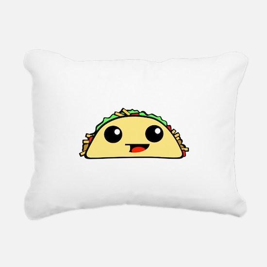 Cute Kawaii Taco Rectangular Canvas Pillow