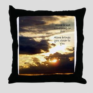Alone Sunrise Throw Pillow