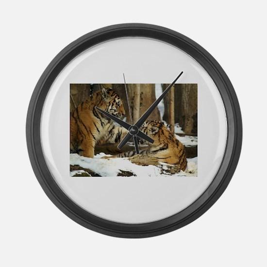 Tigers Large Wall Clock