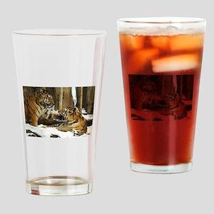 Tigers Drinking Glass