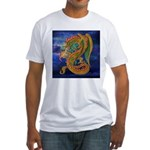 Golden Dragon Fitted T-Shirt
