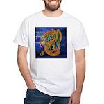 Golden Dragon White T-Shirt