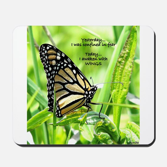 Thinking Butterfly Mousepad