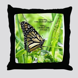 Thinking Butterfly Throw Pillow