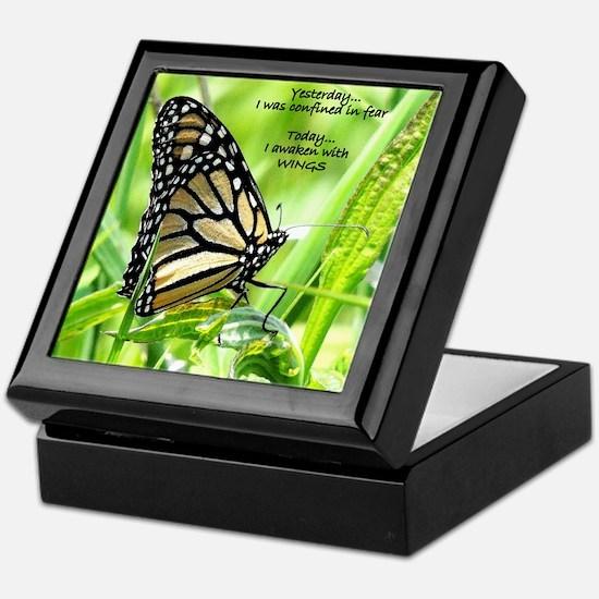 Thinking Butterfly Keepsake Box