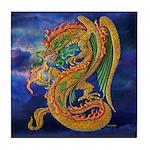 Golden Dragon Tile Coaster