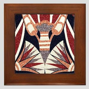 Art Deco Geometric Floral Framed Tile