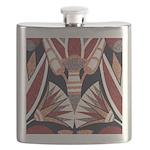 Art Deco Geometric Floral Flask
