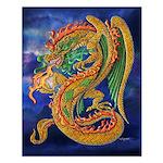 Golden Dragon Small Poster