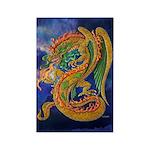Golden Dragon Rectangle Magnet (10 pack)