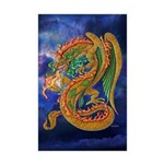 Golden Dragon Mini Poster Print
