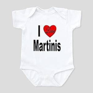 I Love Martinis Infant Bodysuit