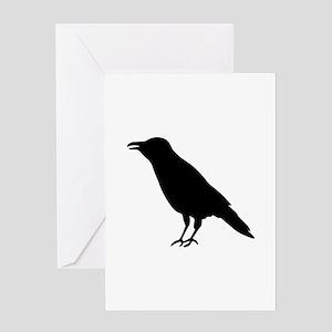 Crow Raven Greeting Card