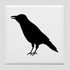 Crow Raven Tile Coaster