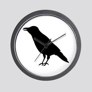 Crow Raven Wall Clock