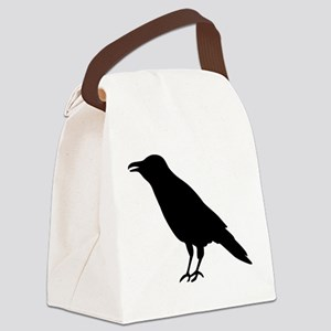 Crow Raven Canvas Lunch Bag