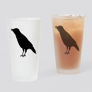 Crow Raven Drinking Glass