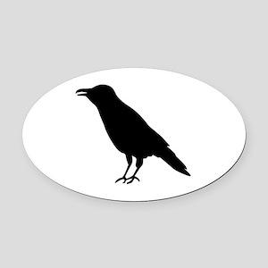 Crow Raven Oval Car Magnet
