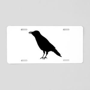 Crow Raven Aluminum License Plate