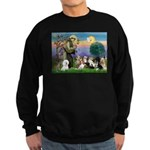 StFrancis-10 dogs Sweatshirt (dark)