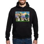StFrancis-10 dogs Hoodie (dark)