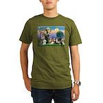 StFrancis-10 dogs Organic Men's T-Shirt (dark)