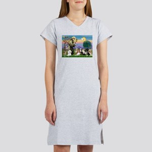 StFrancis-10 dogs Women's Nightshirt