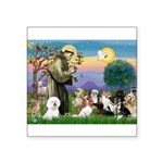 StFrancis-10 dogs Square Sticker 3
