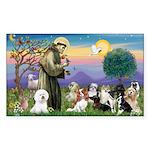 StFrancis-10 dogs Sticker (Rectangle 10 pk)
