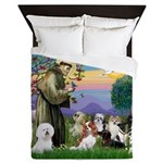 StFrancis-10 dogs Queen Duvet