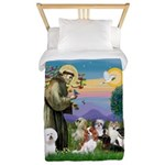 StFrancis-10 dogs Twin Duvet