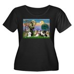 StFrancis-10 dogs Women's Plus Size Scoop Neck Dar