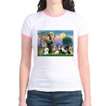 StFrancis-10 dogs Jr. Ringer T-Shirt