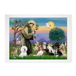 StFrancis-10 dogs 5'x7'Area Rug