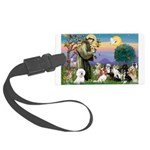 StFrancis-10 dogs Large Luggage Tag