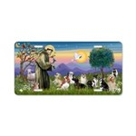 StFrancis-10 dogs Aluminum License Plate