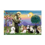 StFrancis-10 dogs Mini Poster Print