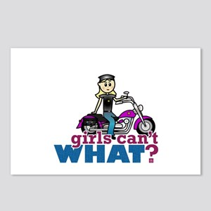 Motorcycle Woman Postcards (Package of 8)