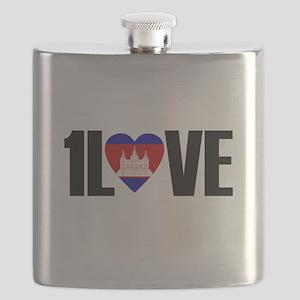 1LOVE CAMBODIA Flask