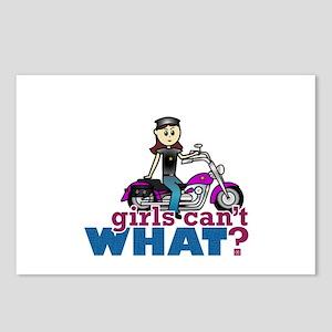 Woman Biker Postcards (Package of 8)