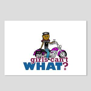 Biker Woman Postcards (Package of 8)