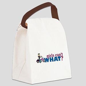 Girl Biker Canvas Lunch Bag