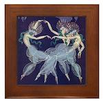 Art Nouveau Ballerinas Framed Tile