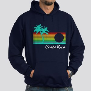 Costa Rica Vintage Distressed Design Hoodie