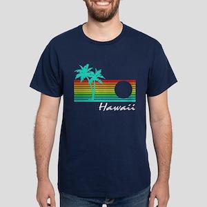 Vintage Hawaii Distressed Design T-Shirt