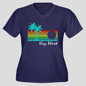 Key West Vintage Distressed Design Plus Size T-Shi
