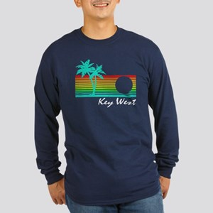 Key West Vintage Distressed Design Long Sleeve T-S