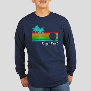 Key West Vintage Distressed Design Long Sleeve T-S